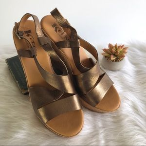 Kork-Ease Metallic Bronze Grailey Wedge Sandal